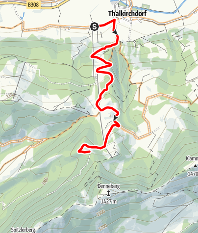 Karte / Hahnenknobel Bergsprint