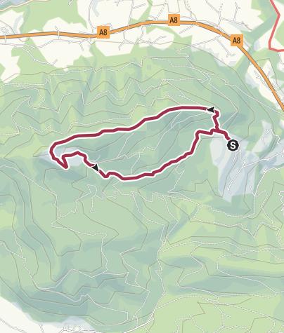 Karte / Stoißer Alm über die Schneid
