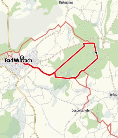 Karte / Bad Wurzach - In den schattigen Stadtwald