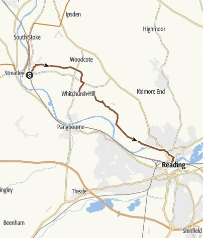 Map / Goring - Reading via Collins End