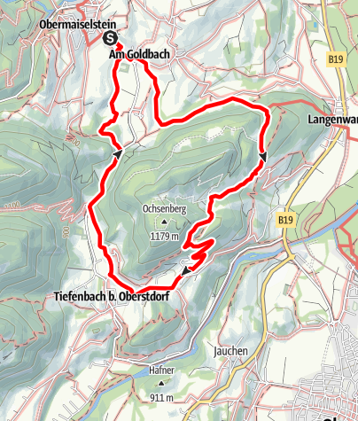 Karte / Wanderung rund um den Ochsenberg bei Obermaiselstein