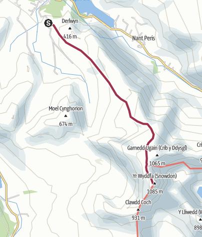 Map / snowdon Llanberis path
