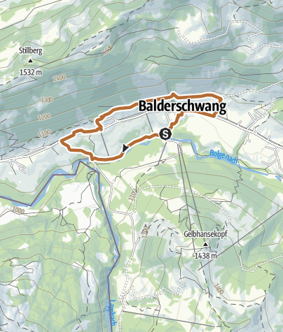 Karte / Panorama-Route - Nordic Walking in Balderschwang