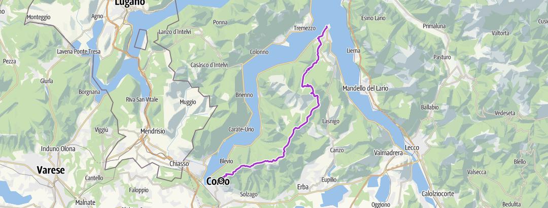 מפה / Brunate Bellagio
