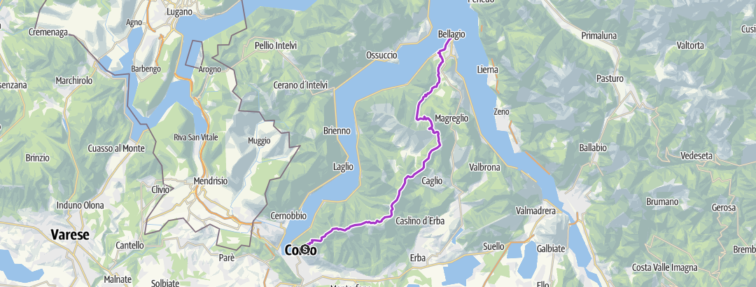 Karte / Brunate Bellagio
