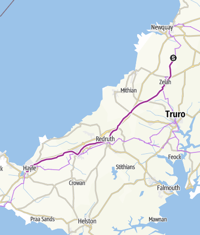 Map / 14a Split to Hayle: Main A30