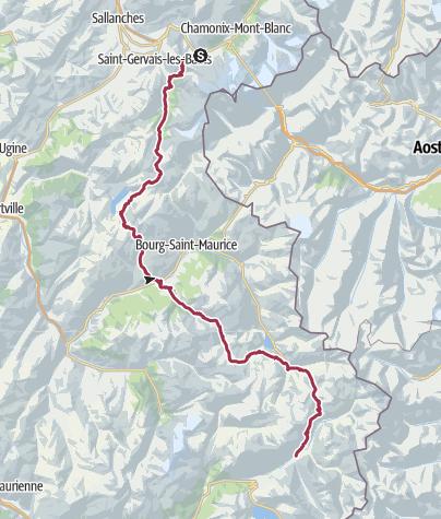 Map / GR5 038 De Les Houches à Bessans