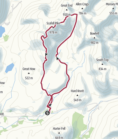 Map / Scafell Pike from Eskdale