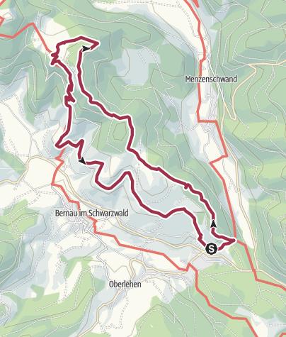 Karte / Bernau: Genießerpfad Hochtal Steig in Bernau (Premiumweg)