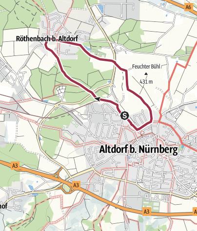 Karte / Altdorf bei Nürnberg. Rundwanderweg 1