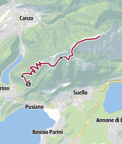 Map / Eupilio - Monte Rai via Consiglieri