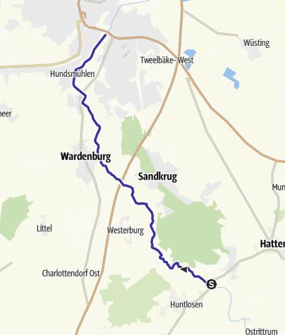 Karte / Durch den Oldenburger Urwald und die Wildeshauser Geest zur Stadt