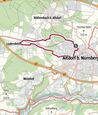 Karte / Altdorf bei Nürnberg. Rundwanderweg 2