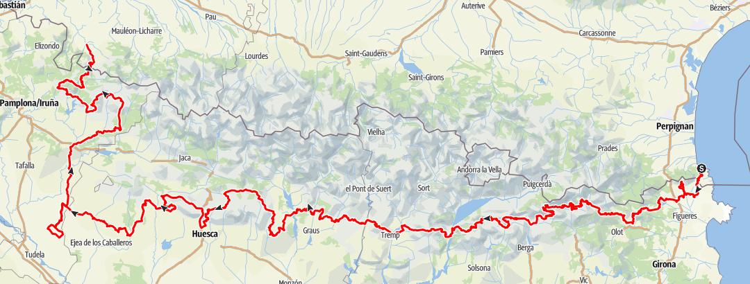地图 / Trace 4X4 Pyrénées traversée._Path