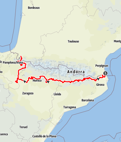 Mapa / Trace 4X4 Pyrénées traversée._Path