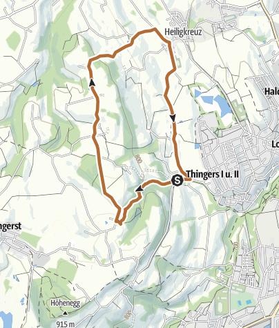 Karte / Nordic Walking bei Kempten