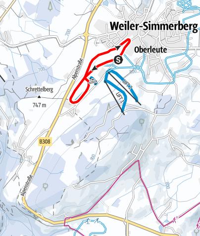Karte / Weiler-Simmerberg R21 Rieder-Loipe