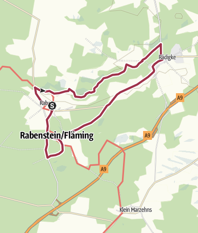 Karte / Bergmolchwanderung um Raben
