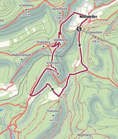מפה / 4-Burgen-Wanderung