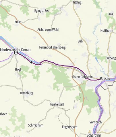 Donauradweg Ulm Passau Karte.Donauradweg Nach Passau Fernradweg Outdooractive Com