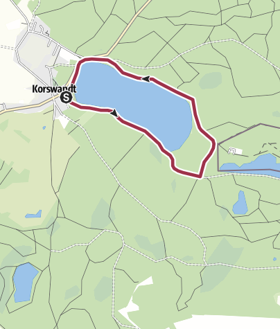 Karte / Rundwanderung am Wolgastsee auf Usedom