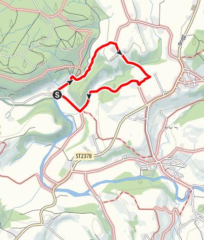Karte / Gestratz Rundweg Malleichen