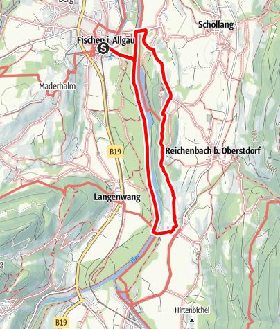 Karte / Rubinger Wiesen - Spazierweg ab Fischen über Rudi und Schöllanger Burg