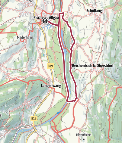 Karte / Rubinger Wiesen - Spazierweg ab Fischen über Rubi und Schöllanger Burg