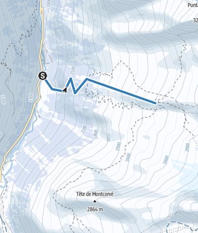 Map / MontéRefugeChabotSki