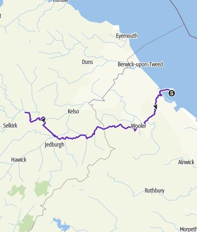 מפה / St Cuthbert's Way Ultra