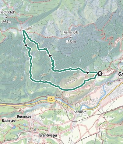 Karte / Von der Windbeutel Alm zur Stepberg Alm