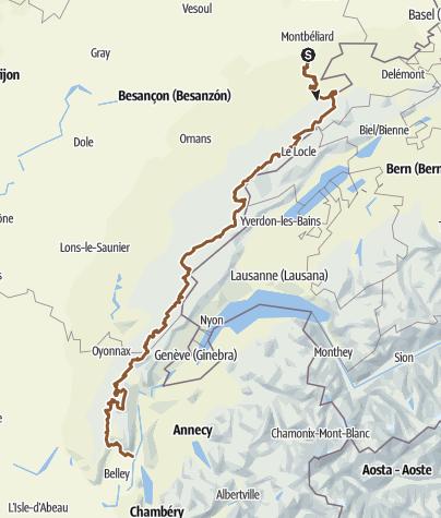 Mapa / Mandeure-Culoz