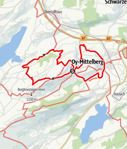 Karte / Panoramaweg um Oy-Mittelberg