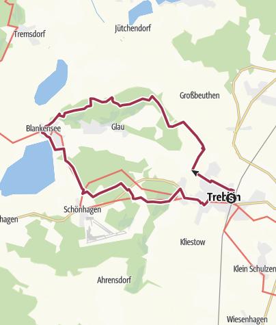 Karte / In die Glauer Berge