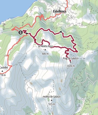 Karte / Auf den Puig de Galatzó bei Estellencs