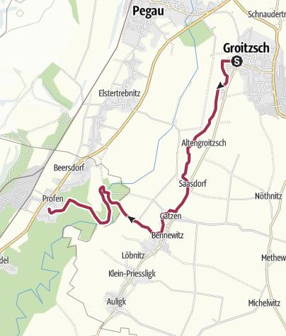 Karte / Von Groitzsch nach Profen