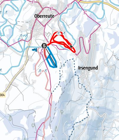 Karte / Oberreute R31 Skilift-Loipe