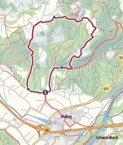 Karte / Wanderung zum Johannishögl