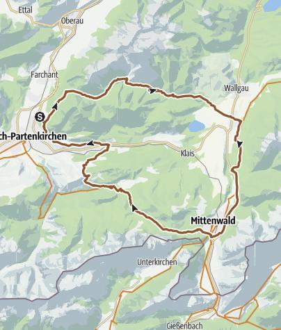 Carte / Durch das Werdenfelser Land bei Garmisch-Partenkirchen