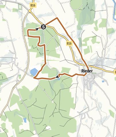 Karte / Nordic-Walking bei Marktoberdorf
