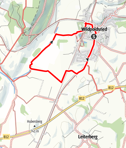 Karte / Vom Dorf durch´s Moos
