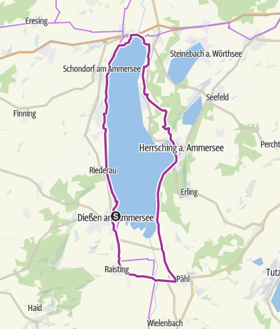 Karte / Ammersee-Rundfahrt