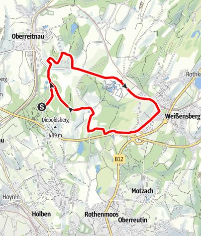 Karte / Lindau R7 Sulzenberger Runde