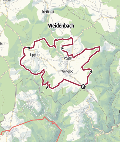 Karte / Vogtei-Rundwanderweg