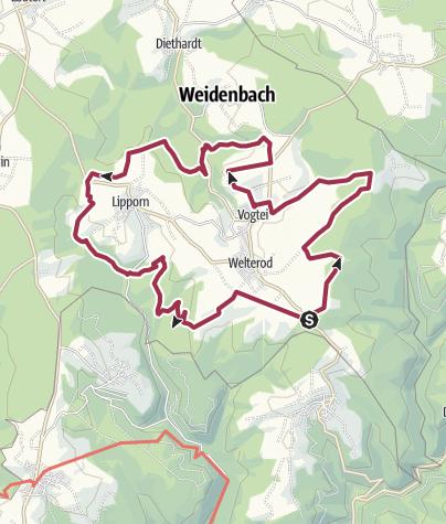 地图 / Vogtei-Rundwanderweg