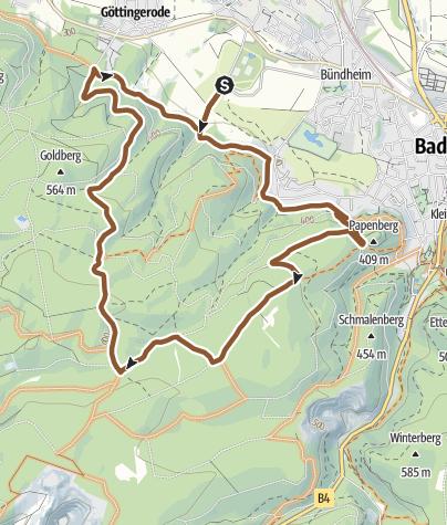 Karte / Durch die Gestütswiesen Bad Harzburg