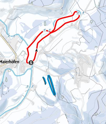 Karte / Sportplatzloipe Maierhöfen