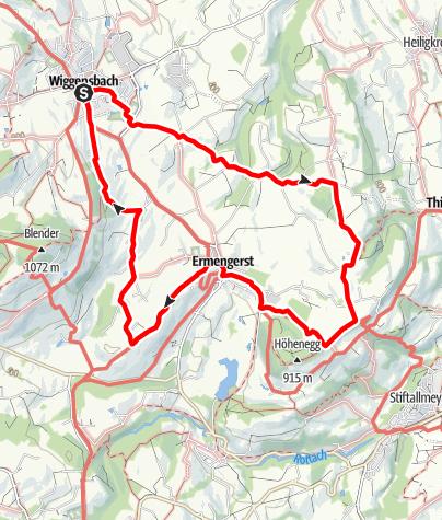 Karte / Wanderung auf den Mariaberg
