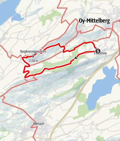 Karte / Über die Ellegg Höhe zum Horn - Oy-Mittelberg
