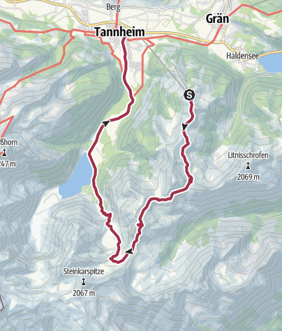 Karte / Drei-Seen-Tour (mit dem Tiroler Bergwege-Gütesiegel ausgezeichnet)